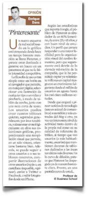 """""""Pinteresante"""", mi columna en Expansión"""