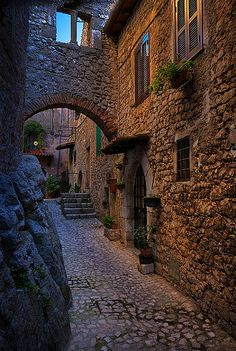 Houses in The Rocks, Fumone, Lazio, Italy
