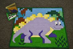 Dinosaur Quilt Pattern in multiple sizes crib to twin  PDF