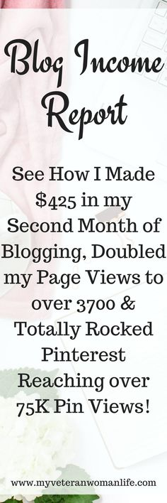Want to know if you can make money blogging?  See how I made $425 in just my second month of blogging, increased by page views by 64%, and got my Pinterest pins viewed by over 75k people!  You can make money from your blog with the right tools, affiliate programs, and the desire to succeed!