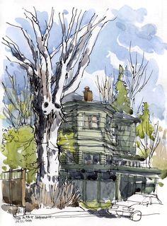 Urban Sketchers: Winter in Seattle