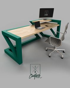 Designed for Masters of their Craft. × × - Built out of steel tube with SOLID OAK desktops. Looking for a statement piece for your office? DM-CALL or Email us to get your custom project started! Office Table Design, Office Furniture Design, Home Office Design, Steel Furniture, Industrial Furniture, Table Furniture, Metal Desks, Modern Desk, Table Desk