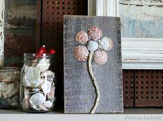 Seashell Flower Art  Petticoat Junktion Seashell Crafts Tour