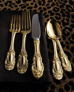 "65-Piece Gold-Plated ""Grand Duchess"" Flatware Service"
