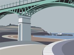 Spa Bridge  http://www.ianmitchell-art.com/index.php/print-gallery/yorkshire-coast#