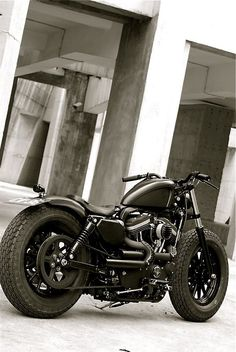 Harley Bobber with Fat Tires. This has Blake's name written all over it. Time to trade up.
