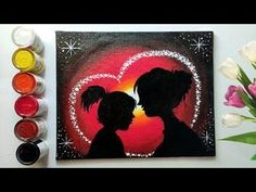 # mothers day painting Step by step Mother's Day Special Painting for beginners! Step Mothers Day, Mothers Day Special, Diy Mothers Day Gifts, Fathers Day Crafts, Mom Gifts, Easy Flower Drawings, Easy Disney Drawings, Easy Doodles Drawings, Easy Canvas Painting