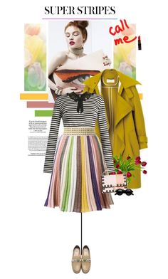 """10 TRENDS - SS2017 - Super Stripes"" by ginevra-18 ❤ liked on Polyvore featuring Loewe, Dolce&Gabbana, Missoni, Fendi and Topshop"