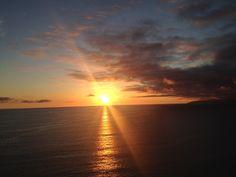 Sun setting on the Big Sur