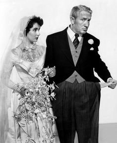 "Elizabeth Taylor and Spencer Tracy in ""Father of the Bride"" (1950)"