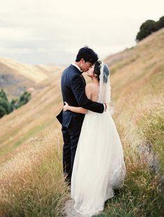 Stunning Outdoor New Zealand Wedding via oncewed.com