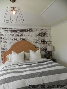 Faux brick wall with just paint and joint compound