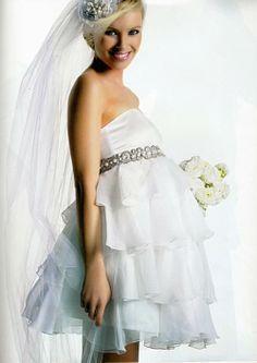 Short Maternity Wedding Dress