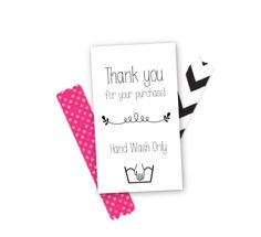customize digital file small business thank you insert cards small