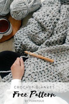 ideas crochet blanket pattern chunky for 2020 Crochet Blanket Edging, Crochet For Beginners Blanket, Afghan Crochet Patterns, Chunky Crochet Blankets, Simple Crochet Blanket, Crochet Yarn, Free Crochet, Blog, Internet