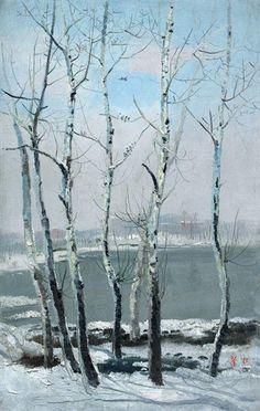 Wu Guanzhong, Snowscape in Beijing