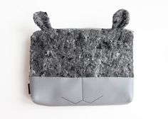 Toiletry bag: cute makeup bags luxury cosmetic bag ears #cutemakeupbags #cutemakeupbag #luxurycosmeticbag #animallovergifts #toiletrybag #designertolietrybag #greytolietrybag #graytoiletrybag #recycledcosmeticbag #cosmeticbagdesign #recycledaccessories #vegantolietrybag #vegancosmeticbag #veganaccessories