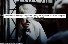 Draco Malfoy, in the end, shows the struggle of teens to live up their parents' expectations, and follow their own heart.