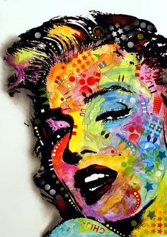 Cópia de Marilyn Monroe que caracteriza a pintura Marilyn Monroe II pelo decano Russo
