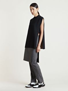 Givenchy Women's Layered Skirt Wool Cashmere Pants