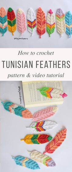 Tunisian Feathers Crochet Pattern Tutorial