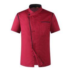 2018 Summer Restaurant Restaurant Uniformed Skimmed Men And Women Similar Chef Uniforms Classic Work Uniforms, Uniform Shirts, Restaurant Uniforms, Restaurant Restaurant, Dockers, Clothes Stand, Workwear Fashion, Unisex, Denim Top