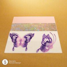 Verzierwachsfolien Set Schmetterling rosa - lila Lilac, Madness, Wax