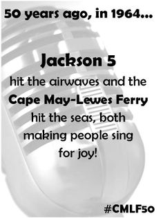 4 Days until our weekend of fabulous anniversary festivities! The DJ may even play #Jackson5 during the day. Feel free to make requests! #CMLF50 #FerryFun