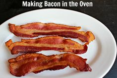 This week on Time Saving Tuesday I am sharing Making Bacon in the Oven…or Baked Bacon. Our family really enjoys a BIG breakfast…as long as it isn't served before 10 a. Best Brunch Recipes, Bacon Recipes, Sweet Recipes, Real Food Recipes, Cooking Recipes, Yummy Food, Favorite Recipes, Cooking Tips, Breakfast Dishes