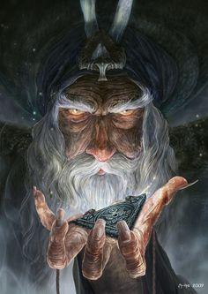 fantasy art Wizard or Druid by Ertac Altinoz Fantasy Wizard, Fantasy Rpg, Medieval Fantasy, Fantasy World, Fantasy Artwork, Character Portraits, Character Art, Desenho Tattoo, Fantasy Illustration