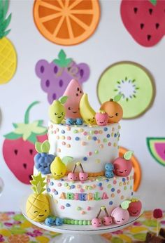 Ariella's Tutti Frutti Birthday! Kawaii Cake Toppers by Les Pop Sweets Ariella's Tutti Frutti Birthday! Kawaii Cake Toppers by Les Pop Sweets The post Ariella's Tutti Frutti Birthday! Kawaii Cake Toppers by Les Pop Sweets appeared first on Pink Unicorn. Tutti Frutti, Fondant Cupcakes, Cupcake Cakes, Sweets Cake, Cupcake Toppers, Fruits Decoration, Cupcake Decorating Party, Decorating Ideas, Fruit Party