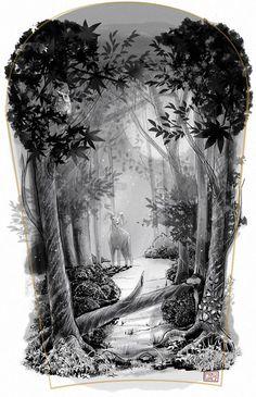 forest tattoo design - Google keresés