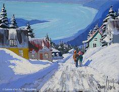 Rémi Clark, 'Charlevoix', x Art Gallery, Winter Art, Figurative Art, Landscape Paintings, Artsy, Sculpture, Classic Movies, Watercolors, Illustration