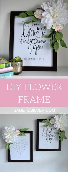 DIY Flower Frame | DIY project | DIY home decor | Crafts | DIY room decor |