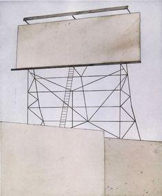 Ed Ruscha - Su espacio - 2006 - Recientemente, varias obras de Ruscha lidian con la ausencia de palabras en los lugares donde se suponía que debían ser.