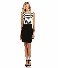 Cremieux Treva Striped Bodice Dress #Dillards