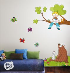 Owls Scroll Tree Wall Stickers for Owl-Themed Nursery and Kids Rooms - Wall decals for kids rooms Image Resolution: Width: Height: Modern Wall Decals, Kids Room Wall Decals, Kitchen Wall Stickers, Mural Wall Art, Home Decor Wall Art, Nursery Wall Art, Decoration Creche, Class Decoration, Owl Themed Nursery
