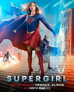 Supergirl prepares for The CW crossover in a new poster. The four night event begins with the girl of steel on November 28 and continues into The Flash!