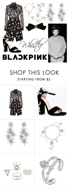 """""""Whistle."""" by nerdyhesc ❤ liked on Polyvore featuring Carven, Boohoo, Oscar de la Renta, Charlotte Russe, Chanel, OneDirection, Silver, dress, Elegant and louistomlinson"""