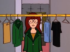 Daria decides what to wear today.