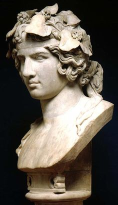 The cult of Antinous (portrayed here as Dionysus) Italy ca, 130-138 AD. from Hadrian's Tiviloi Villa sancturary. Beloved of emperor Hadrian, Antinous drowned as a young man. He was a commoner and he is unusual for being deified and reborn. He preformed miracles and healed the sick. Cities were built for him and for 3 centuries he was extremely popular. As a young new god devotees asked him to intercede on their behalf with the older deities. The Fitz goes on recounting the story -
