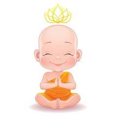 A Guide to Third Eye Meditation Baby Buddha, Little Buddha, Buddha Doodle, Buddha Art, Third Eye Meditation, Buddha Drawing, Buddha Tattoos, Art Asiatique, Baby Drawing
