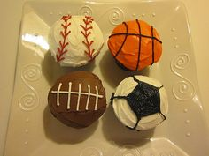Sports cupcakes for my  nephew's birthday party