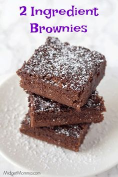 2 Ingredient Brownies - sub out Dr Pepper for other diet soda - sub out brownie mix for sugar free browning mix WW PT each) Weight Watchers Brownies, Weight Watcher Dinners, Weight Watchers Desserts, Weight Watcher Cookies, Weight Watchers Muffins, Diet Desserts, Healthy Desserts, Easy Desserts, Dessert Recipes