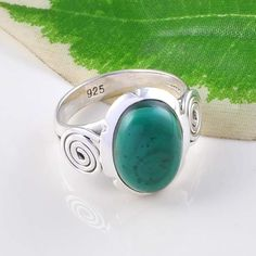 MALACHITE 925 SOLID STERLING SILVER ANTIQUE RING 4.89g DJR2426 S-6 #Handmade #Ring