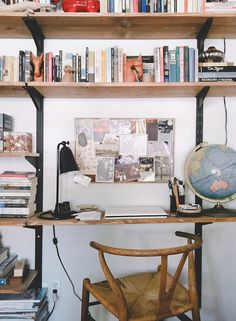 Old Brand New- great small office space idea