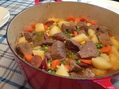 Carne Guisada (Portuguese Beef Stew) Recipe posted by: My Portuguese Kitchen Beef Stew/ Carne Guisada was a popular meal in our home when I was growing up and it is now one of my kids favorite meals.  http://myportuguesekitchen.blogspot.com/2013/03/carne-guisada-portuguese-beef-stew.html?spref=fb