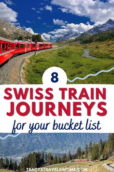 Traveling to Switzerland? Wondering which train journeys to choose? These are 8 of the most scenic and perfect for your Swiss travel itinerary. Tips and more to help you choose your Swiss train travel trips #Switzerland #trains Europe Train Travel, Africa Travel, European Road Trip, Swiss Travel, Train Journey, Travel Videos, Culture Travel, Travel Essentials, Travel Around The World