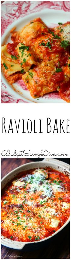 One of the BEST casserole recipes EVER!!! No PANS Needed ONLY one casserole dish - UNDER 5 minutes to prepare the DISH! Must Make This Week - Ravioli Bake Recipe