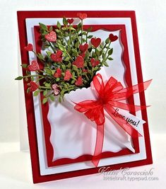 Heart Stems and Paper Cone Bouquet